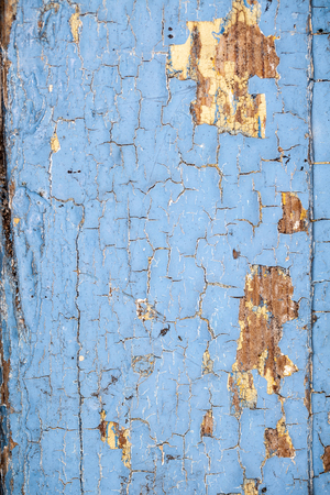 blocky: old flaking blue paint Stock Photo