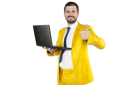 thumbs up for a new computer in work