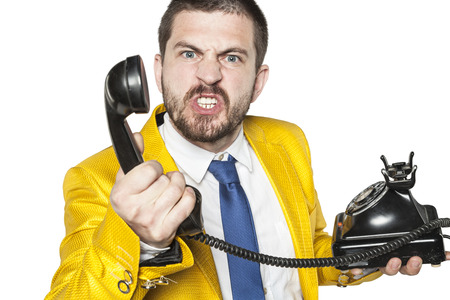 when: customer explodes with anger when talking to call center