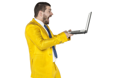 gasping: businessman surprised content that can be found on the internet