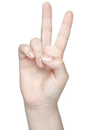close up of worldwide symbol of peace, isolated on white background
