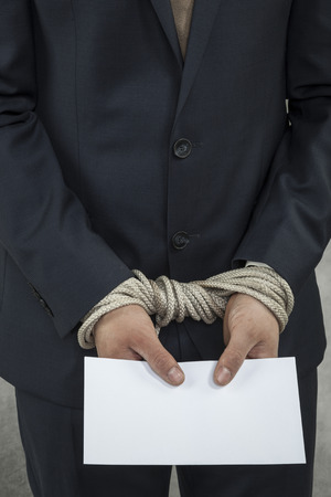 bribery is equal to jail Stock Photo