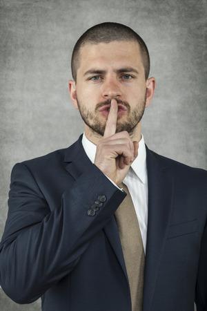 shh: Shh gesture Stock Photo