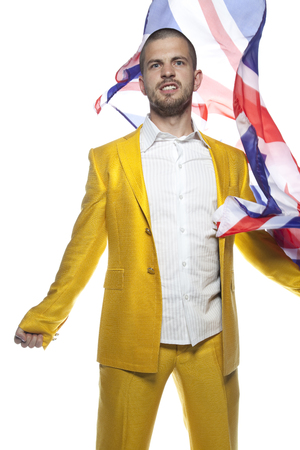 great britain supporter Stock Photo