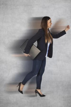 resourcefulness: rush in the modern business world Stock Photo