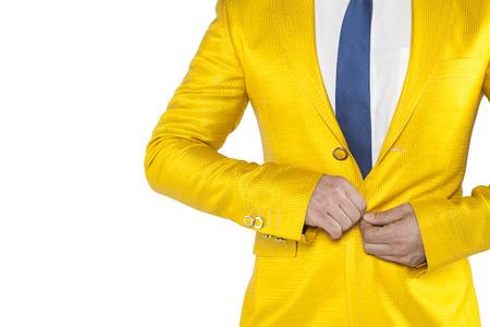 buttoned: upset businessman buttons buttoned jacket