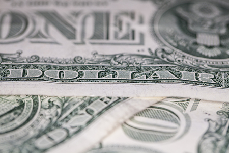 determinant: close up of one dollar Stock Photo