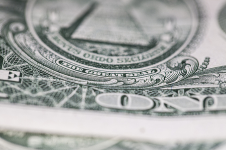 determinant: close up of one dollar paper bill Stock Photo