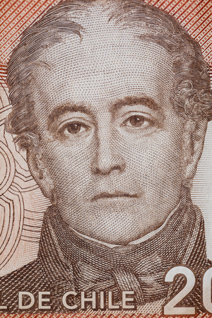Portrait of Andres Bello in Chilean currency
