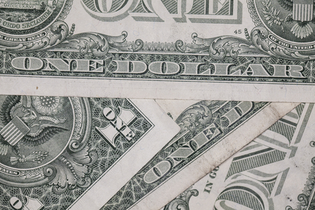 determinant: close up on one dollar