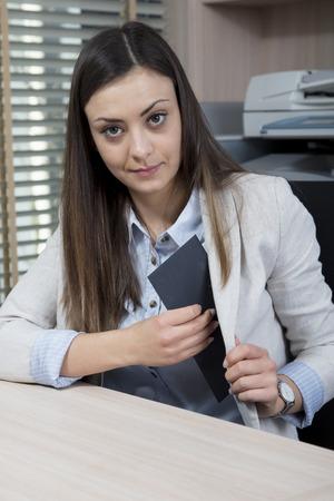 Female politician hides a bribe