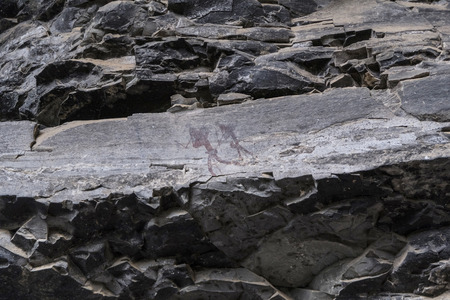 Old rock paintings, Drakensberg, South Africa