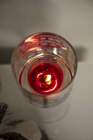 candle in a Christmas decoration