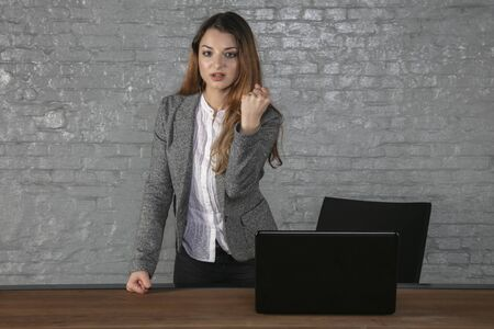 business woman in an office situation, portrait of a young manager