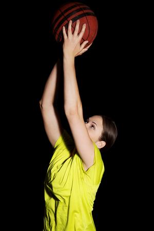 Young woman basketball player