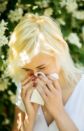Allergie dans le parc Banque d'images