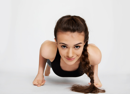 The workout of teen girl