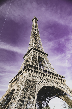 The poster with Eiffel Tower, Paris