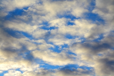Blue sky and dark clouds