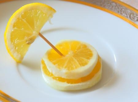 Fancy lemon, three slices