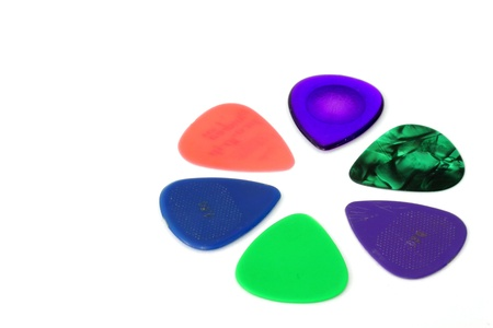 Guitar picks isolated on white