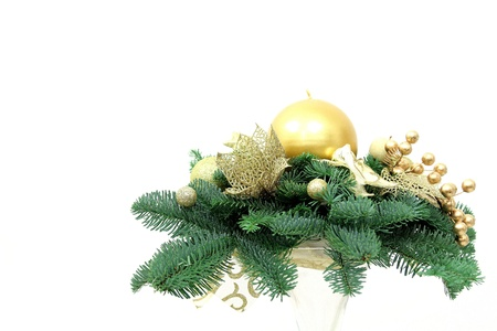 Christmas decoration with candle Stock Photo