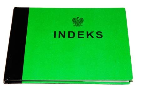 Polish indeks - registration book