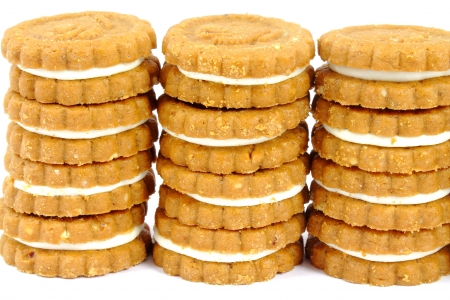 Cookies stacks Stock Photo - 17542788