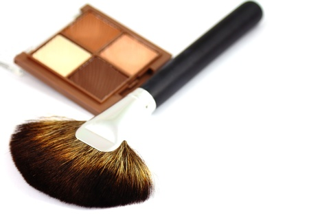 Make up brush and eyeshadows photo