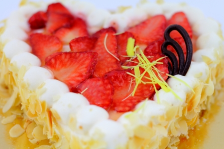 Strawberry cake close-up. Stock Photo - 17954379