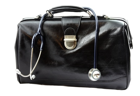 Doctor s bag with stethoscope Stock Photo