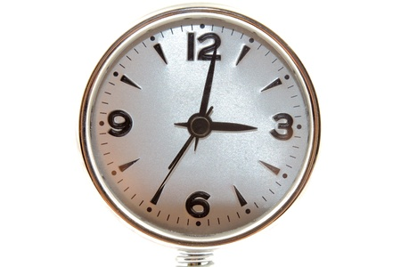 Silver clock isolated