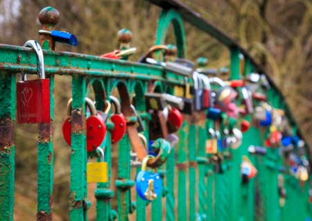 Lovers bridge in Szczecin