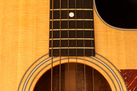 acoustic guitar: Guitar background Stock Photo