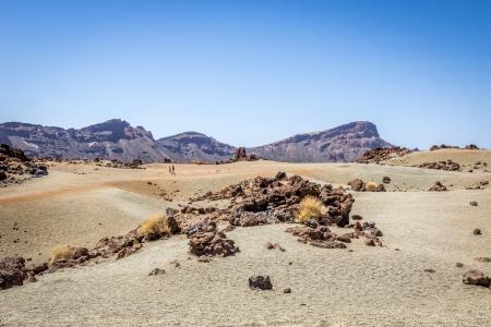 barren land: Barren land in Tenerife Stock Photo