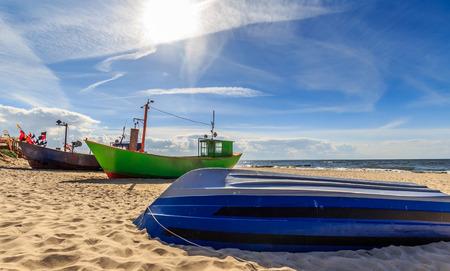 Fishing boats in Miedzyzdroje Stock Photo
