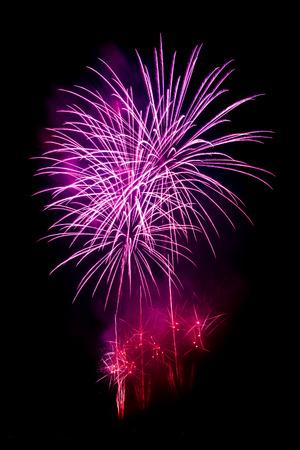 Purple fireworks Stock Photo