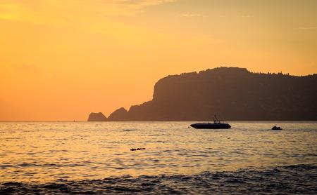 Sunset at Alanya coast