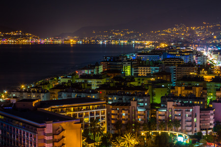 Turkish coast at night