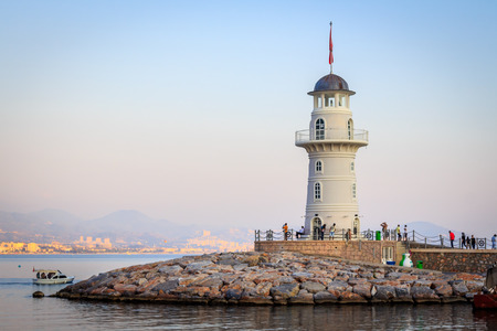 Turkish lantern in Alanya Stock Photo