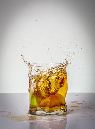 Lime and drink splash