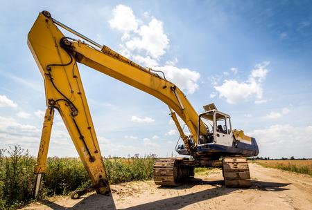 front end loader: Excavator Stock Photo
