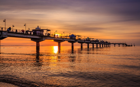 Pier in Miedzyzdroje at sunset