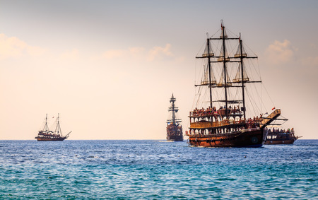 Ships in the Mediterranean