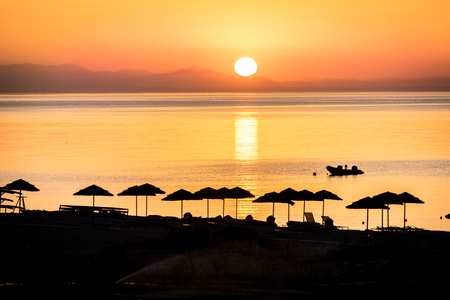 Sunrise on the island of Rhodes Stock Photo