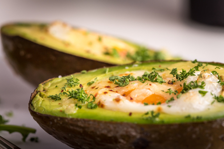 avocado baked with egg
