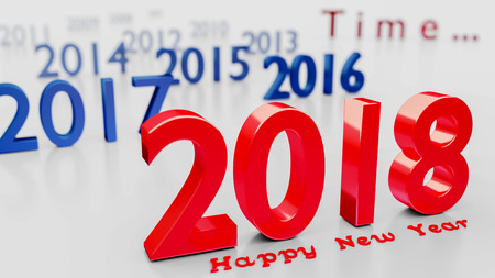 Happy New Year 2018 - 3d render Stock Photo