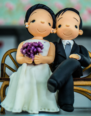 bisquit: bisquit a couple for wedding cake decoration Stock Photo