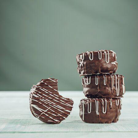 Brazilian home made honey cookies chocolate covered - Pães de Mel