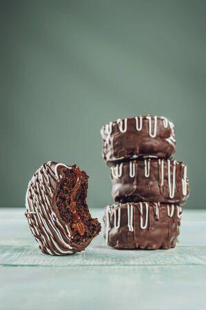 Brazilian home made honey cookie chocolate covered - Pão de Mel